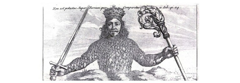 Thomas Hobbes' Leviathan schafft Ordnung im Chaos (gemeinfrei)